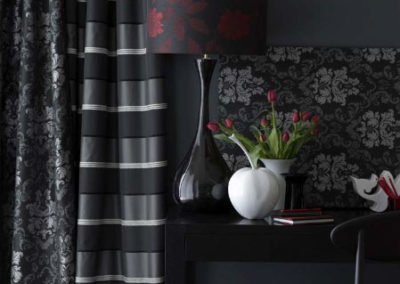 Maurice Kain grey and white curtain combo