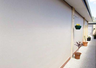 White Ziptrak blinds