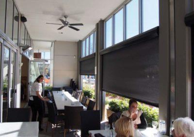 Ziptrak blinds at cafe