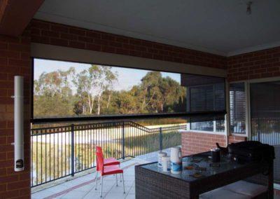 Ziptrak blinds on patio