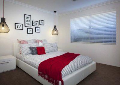 bedroom with venetians