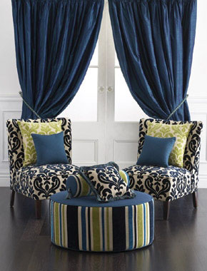 blue velvet curtains