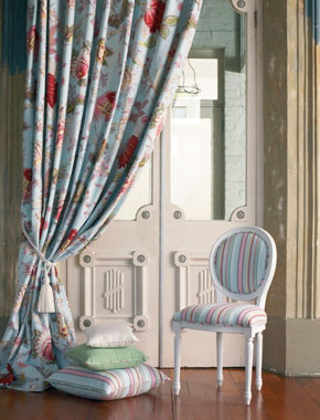 colourful floral curtains