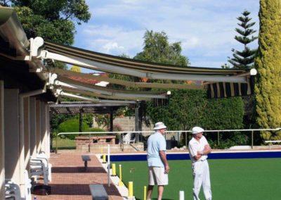 folding arm awning at bowls club