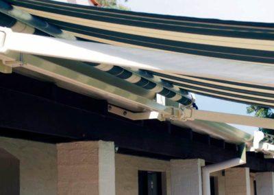 folding arm awning detail