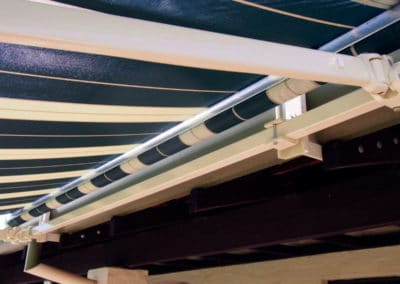 folding arm awnings under detail
