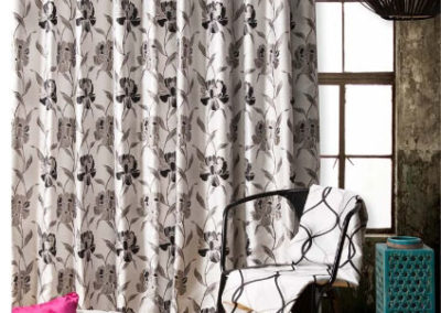 maurice kain grey floral curtains