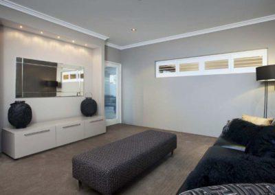 narrow shutters in living room