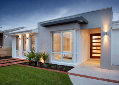 new home with white shutters