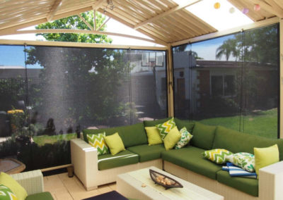 outdoor blinds on patio
