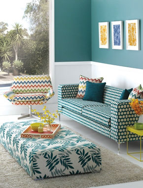 patterned living room furniture