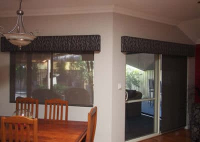 patterned pelmets with roller blinds