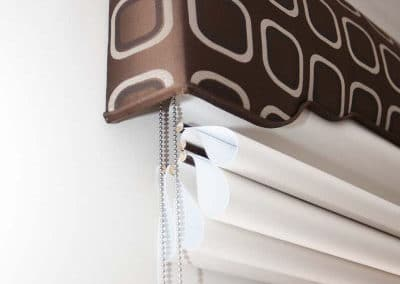 roman blinds detail