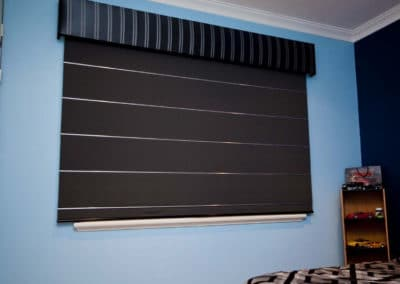 roman blinds in childs bedroom