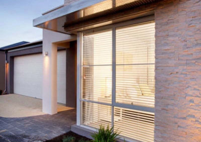 venetian blinds from outside