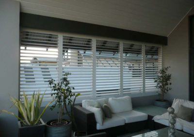 white shutters in outdoor area