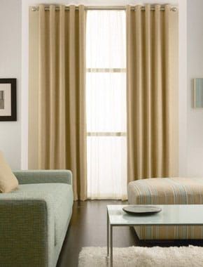 yellow curtains in living room